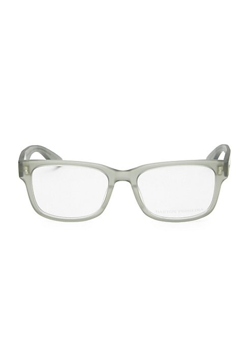 Image of 52mm lens width; 19mm bridge width; 148mm temple length. Clear lenses. Zyl. Imported.