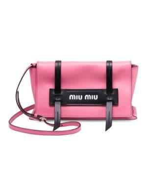 MIU MIU Small Grace Calfskin Shoulder Bag - Pink in Legoeia