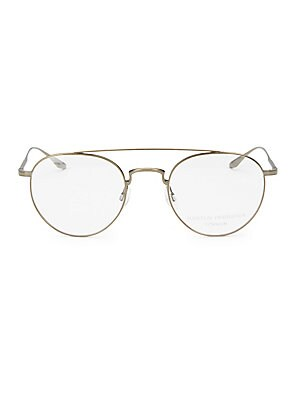 Image of 52mm lens width; 23mm bridge width; 148mm temple length Clear lenses Titanium Made in Japan. Men Accessories - Men Sunglasses > Saks Fifth Avenue. Barton Perreira.