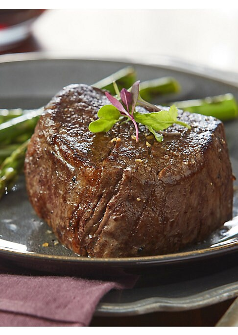 Image of EXCLUSIVELY AT SAKS FIFTH AVENUE.A fantastic assortment that provides a variety of choices of steak and meat to enjoy as a terrific option for a day of grilling with family & friends. Includes: Four 6oz Premium Angus Beef Filet Mignons, four 8oz Premium A