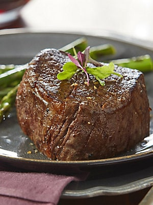 Image of This assortment of beef for sale online includes a balanced collection of grilling treats which make the perfect gift for friends, family, colleagues, or even yourself. We start with our complete trimmed and 'Oh-So-Tender' Filet Mignons Includes: Two 6 oz