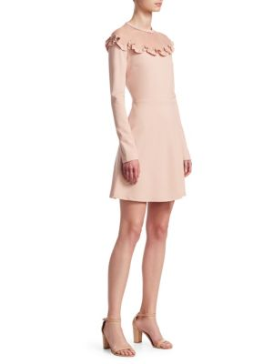 RED VALENTINO Ponte Jersey And Soft Point D Esprit Dress, Nude