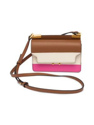 Marni  Mini Striped Leather Crossbody Bag