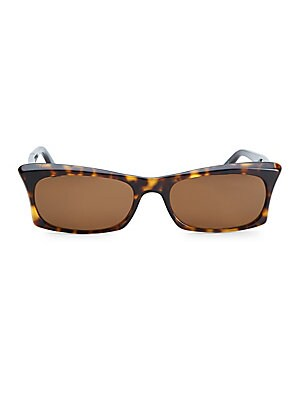 Image of From the Love Collection Tortoise shell rectangular sunglasses with a retro feel Lens width, 53mm; bridge width, 16mm; temple length, 140mm Solid lenses Case and cleaning cloth included Acetate Imported. Soft Accessorie - Sunglasses. Andy Wolf. Color: Bla