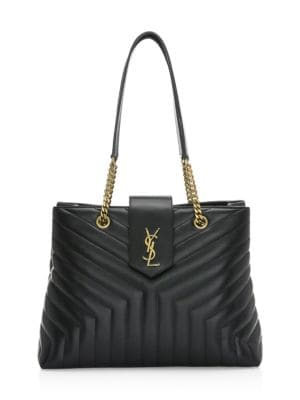 Large Lou Leather Shopper by Saint Laurent