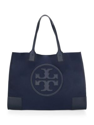 Ella Nylon & Leather Mini Tote, Tory Navy