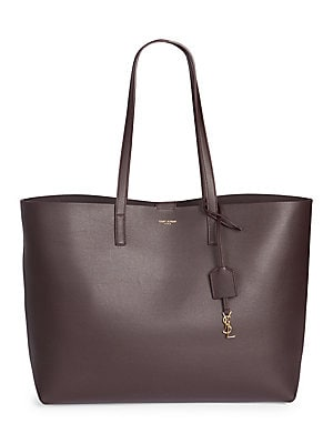 714196f19d Saint Laurent - Large Leather Shopper Tote - saks.com