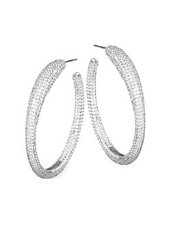 Atrani Hoop Earrings SILVER. QUICK VIEW. Product image