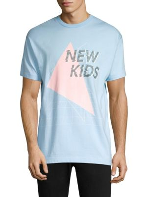 TEE LIBRARY New Kids Cotton Tee in Blue