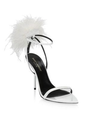 Mansour High Heel Sandal by Saint Laurent