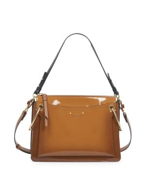 Medium Roy Gusset Spazzalatto Leather Bag by Chloé