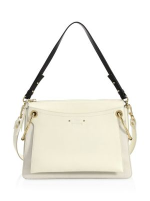 Medium Roy Gusset Grained Leather Bag by Chloé