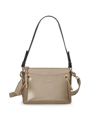 Roy Day Leather And Suede Shoulder Bag in Gray