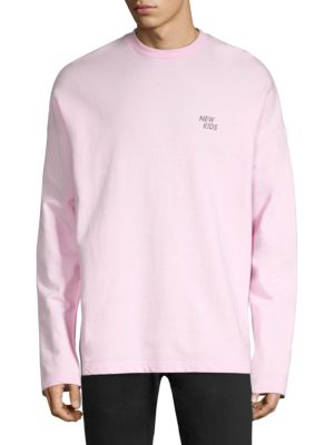 TEE LIBRARY Graphic Cotton Sweatshirt in Pink