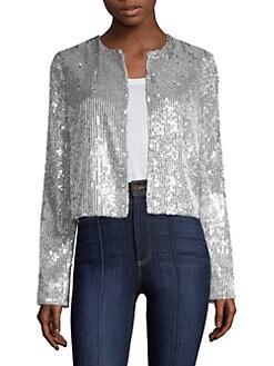 8421a60e50318 Alice + Olivia. Kidman Sequin Jacket