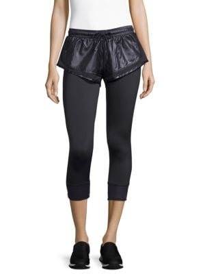 Essential Double-Layered Performance Leggings in Black