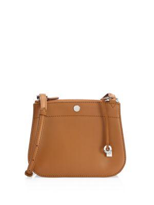 Milky Way Leather Shoulder Bag, Tobacco Cognac