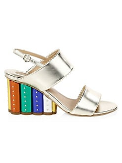 fe9a092c5 Salvatore Ferragamo Gavi Studded Wedge Sandals