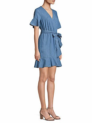 44edbd4e90d Draper James - Chambray Wrap Dress - saks.com