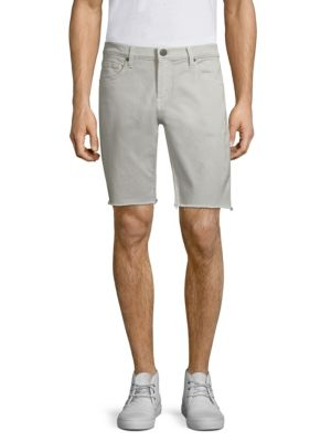 Men'S Eli Over-Dyed Cutoff Jean Shorts, Grey Ivory