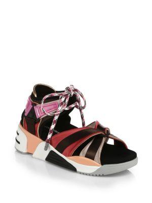 Women'S Somewhere Satin Platform Wedge Sport Sandals, Multi