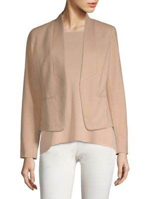 Draped Open Front Jacket by Eileen Fisher