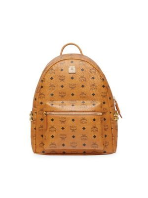 Medium Stark Side Stud Coated Canvas Backpack, Cognac