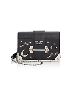 64c2a8cb809e QUICK VIEW. Prada. Cahier Studded Leather Crossbody Bag