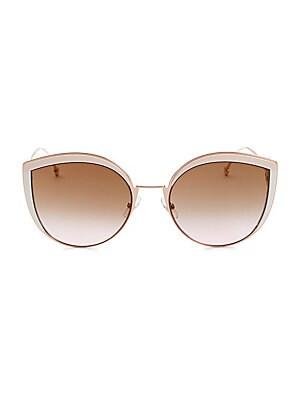 679b350b40b1 Fendi - 52MM Two-Tone Cat Eye Sunglasses - saks.com