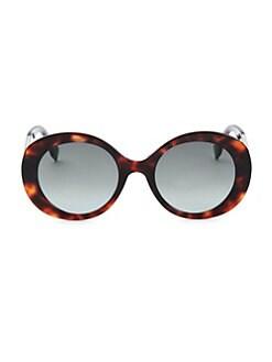 1ca198738acf Fendi. 52MM Round Sunglasses