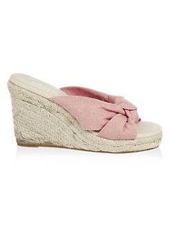 54221923a6 Soludos. Knotted Wedge Sandals