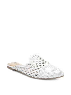 Navya Woven Leather Mules by Sam Edelman