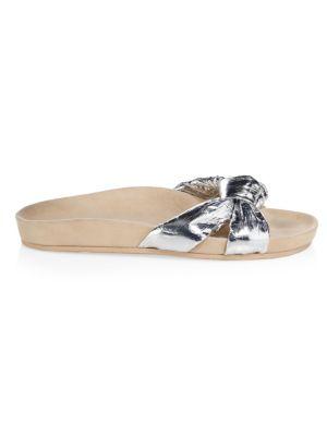 Gertie Metallic Sandals, Silver