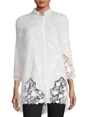 Elie Tahari  Clark Embroidered Blouse