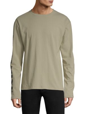 DIM MAK Patch Long-Sleeve Cotton Tee in Clay