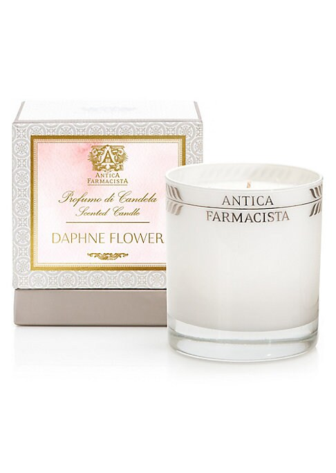 Image of A bright floral fragrance, inspired by the Daphne odora flower, found in the Pacific Northwest. A floral melange, built on notes of effervescent daphne, orange blossom and honeysuckle. Sweet Meyer lemon and dewy green notes add an element of sparkle while