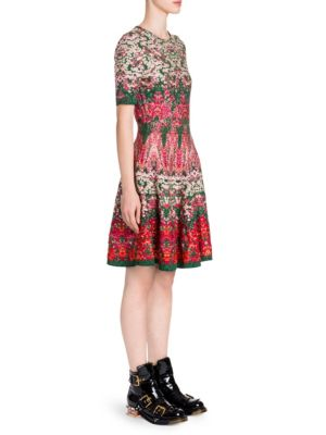 Alexander Mcqueen  Floral Fit-and-Flare Dress
