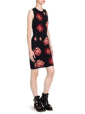 Alexander Mcqueen  Sleeveless Bodycon Mini Dress