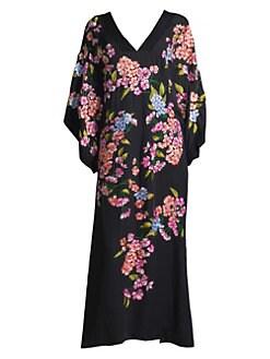 ff1b38a15e Natori. Hanami Silk Kimono