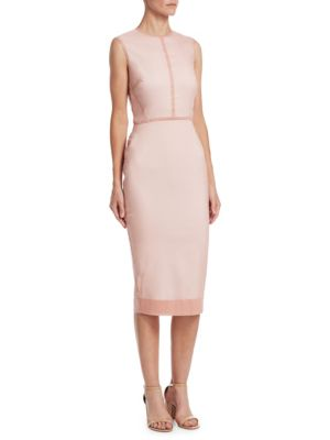 Sleeveless Linear Fitted Dress by Victoria Beckham
