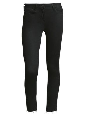 3X1 W2 Cropped Mid-Rise Skinny Jeans in Black