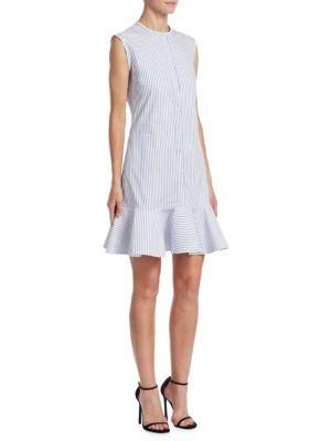 Victoria Victoria Beckham Flounce-Hem Shirt Dress