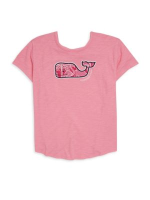 Toddlers Little Girls  Girls Short Sleeve Slub Flamingo  Whale TShirt