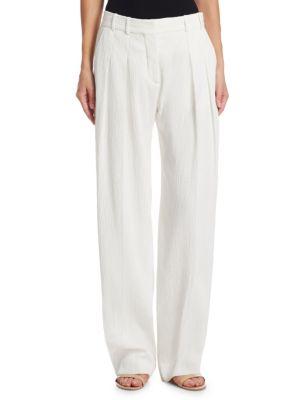 Victoria Victoria Beckham Textured Two-Pleat Pants