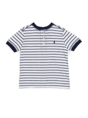 Toddlers Little Boys  Boys Striped Cotton Henley