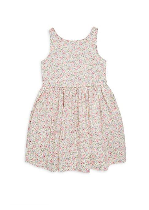 Little Girls and Girls Rose Print Poplin Dress