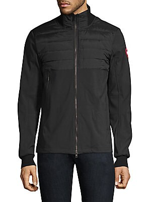 Image of A lightweight quilted jacket can be worn on its own or layered for extra warmth. Stand collar Long sleeves Zip front Rib-knit trim Chest zip welt pocket Waist welt pockets Lined Nylon/spandex Fill: Goose down/feather Machine wash Made in Portugal SIZE & F