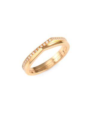 Repossi Antifer Diamond & 18K Rose Gold Two-Row Ring