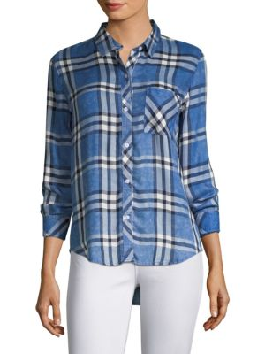 Blue Hunter Plaid Shirt by Rails