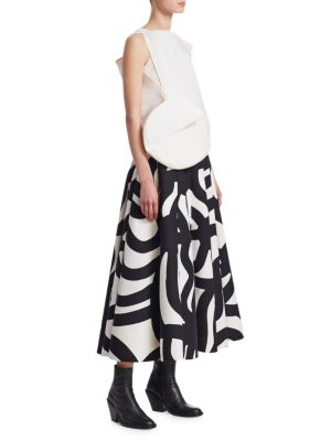 Image of A dynamic two-piece gown with a bold architectural bodice. The voluminous skirt is finished with the brand's signature Finnish graphic print. Crewneck. One cap sleeve, one sleeveless. Side zip closure. Cotton/nylon. Dry clean. Imported. SIZE & FIT.A-line